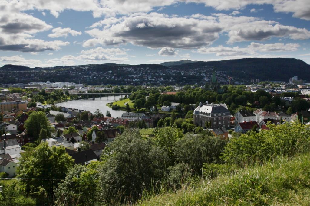 Trondheim von der Kristiansten Festning (=Festung) aus
