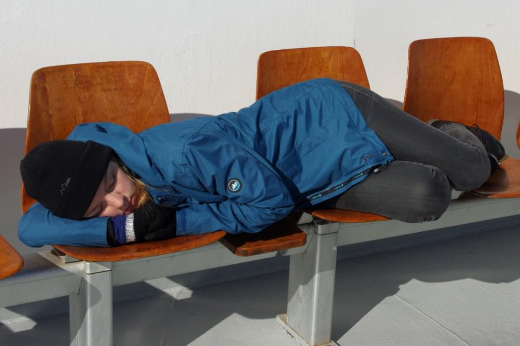 Schlafen auf der Fähre